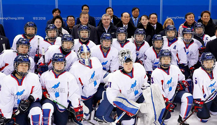 IOC President Thomas Bach with Team Korea #COR