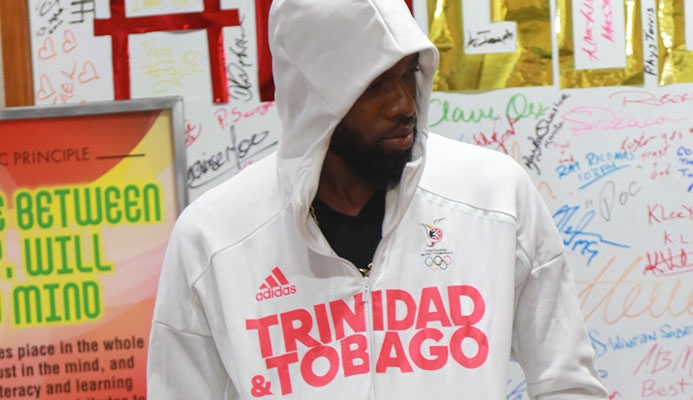 Sunny Bling( Kerron Sealy) at the Adidas TeamTTO Rio
