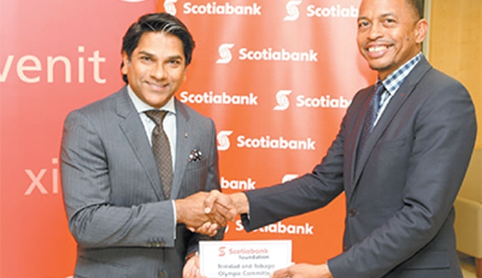 Peter Ghany, director Scotiabank Foundation and Brain Lewis, president, TTOC.