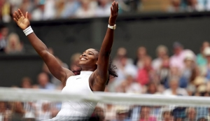 Serena Williams reminds everyone that barriers still exist in women's sports. (Adam Davy/Reuters/Pool)