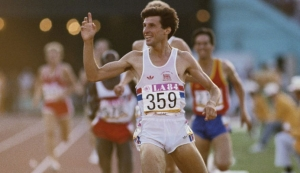Sebastian Coe defied the odds, retaining his Olympic 1500m title at Los Angeles 1984, after he refused to listen to the critics who wrote him off ©Getty Imaes