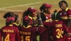 West Indies women's team celebrate. Photo: ICC