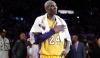 Kobe Bryant salutes the fans after his extraordinary performance for the Los Angeles Lakers