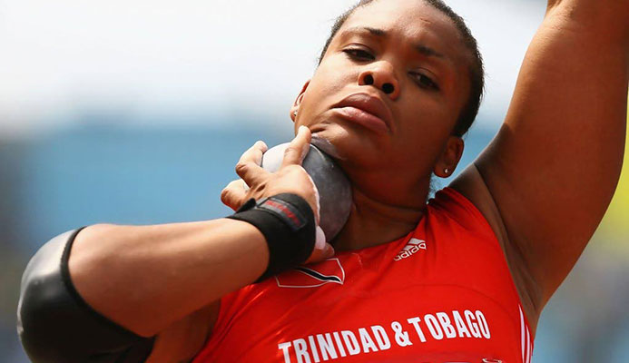 Trinidadian Olympic shot putter Cleopatra Borel