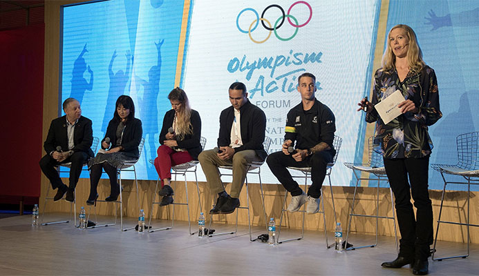 The future of sport was among the panel discussions on the second day of the forum ©Getty Images