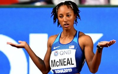 Brianna McNeal, Olympic 100m hurdles champion, could face eight-year ban